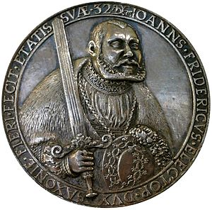 John Frederick I, Elector of Saxony - Medal of Johann Frederick I on the occasion of 32 birth anniversary (1535), National Museum in Warsaw