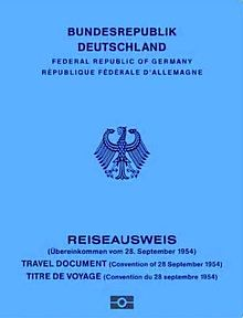 Travel document wikipedia the front side of a german 1954 convention travel document ccuart Images
