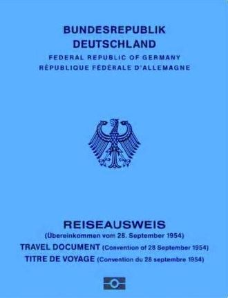 Statelessness - German 1954 Convention Travel Document