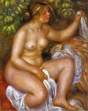 Barnes Foundation - Pierre-Auguste Renoir, After The Bath, 1910