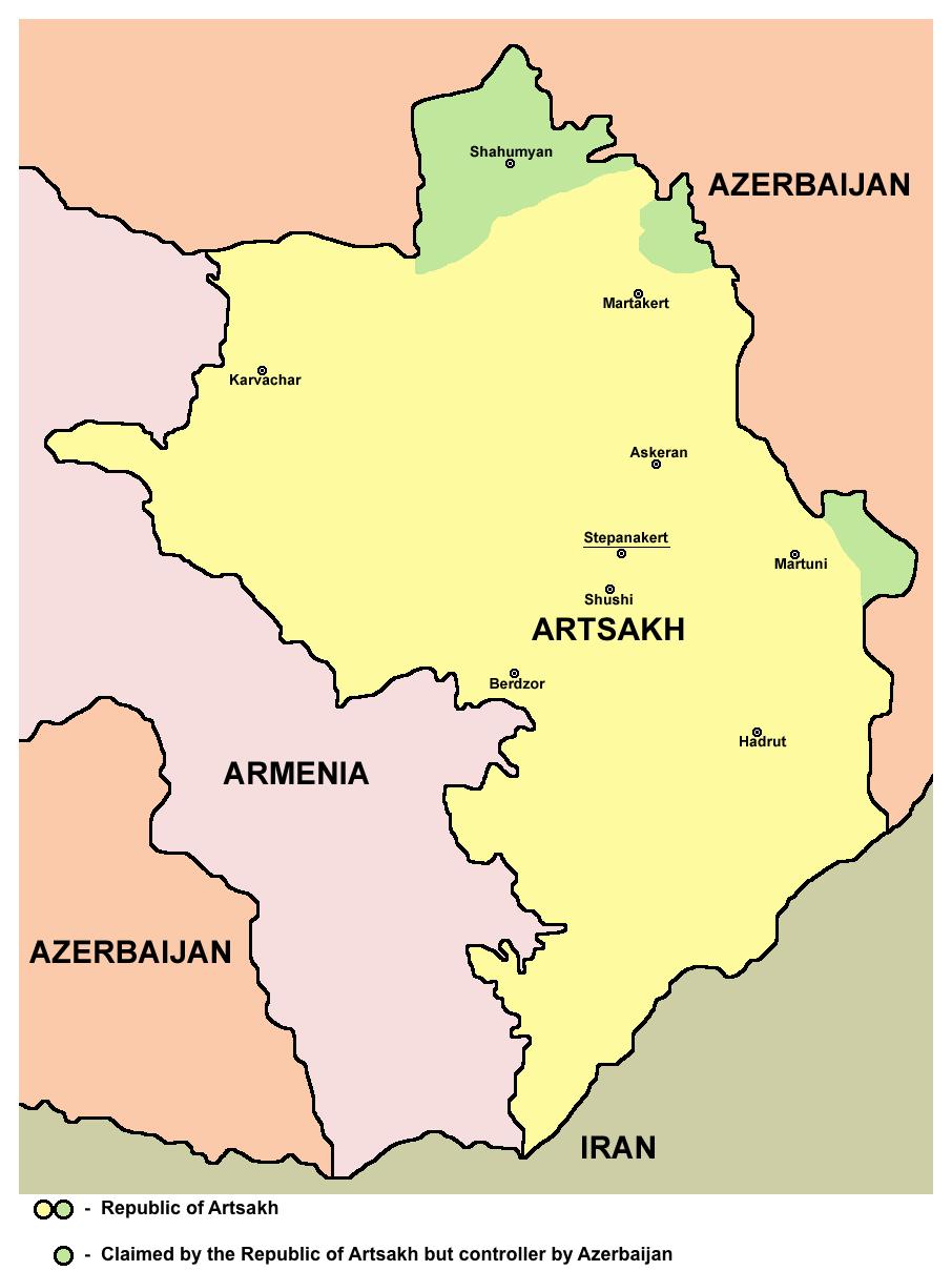 Republic of Artsakh map