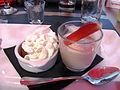 Restaurant Il Momento Baba au rhum et mousse d'amande à la fraise.JPG