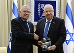 Reuven Rivlin received the strategic assessment of INSS for 2018, January 2018 (1790).jpg