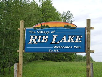 Rib Lake, Wisconsin - Image: Rib Lake Welcome Sign