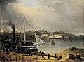Riddarfjärden och Öbergska klädesfariken, 1840-tal.jpg