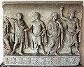 Rilievo di altare monumentale con processione sacrficale (personaggi della gens claudia), 42-43 dc, dalla zona di s. vitale-mausoleo di galla placidia 02.jpg