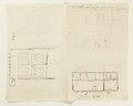 Ritningar och utkast till byggnad. Av Nils Bielkes hand, cirka 1700 - Skoklosters slott - 98155.tif