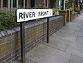 River Front sign, Enfield - geograph.org.uk - 1224862.jpg