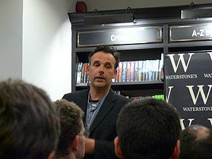 Robert Newman (comedian) - Newman at a reading and signing for his novel The Trade Secret in 2013