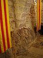 Roca i arrancada d'arc del saló gòtic del monestir del Puig.jpg