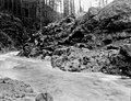 Rock formation at dam site on North Bank (306), Camp No 2, Washington, December 12, 1911 (INDOCC 1781).jpg
