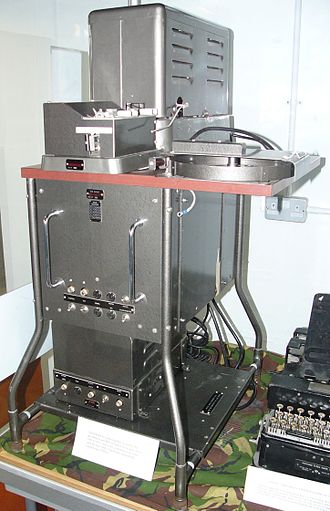 William Stephenson - The Rockex was an IBM Telex machine adapted by Pat Bayly to operate on a one time cypher, allowing secure communication among the Allies throughout the war. It continued to be used in peacetime until the 1970s.