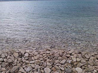 Dalmatia - Rocky beach at Brač island (Croatia), in the Adriatic Sea, during the summer
