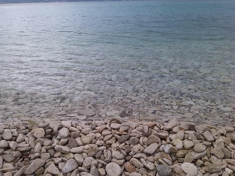 Rocky beach at Brač island, in the Adriatic Sea within Croatia