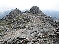 Rocky pinnacles, on the summit ridge of Glyder Fawr - geograph.org.uk - 1411466.jpg