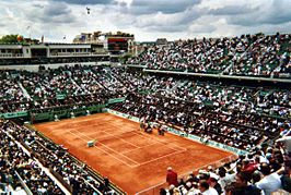 Centre court, het Philippe Chatrier stadion