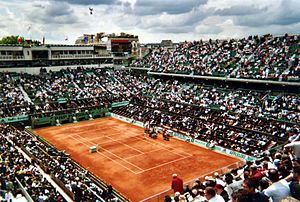 2017 French Open - Court Philippe Chatrier where the Finals of the French Open took place.