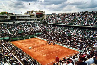 2016 French Open - Court Philippe Chatrier, where the Finals of the French Open take place.