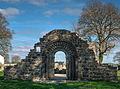 Romanesque doorway, the Nuns' Church, Clonmacnoise.jpg