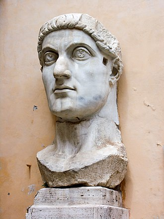 Constantine the Great - Marble head representing Emperor Constantine the Great, at the Capitoline Museums