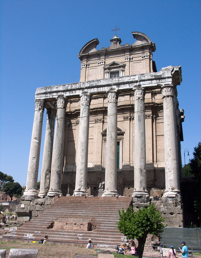 Rome : Forum romain et Temple d'Antonin et Faustine - Photo de Jean-Christophe Benoist