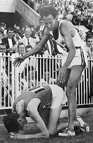 John Landy - Ron Delaney and John Landy (right) at the 1956 Olympics