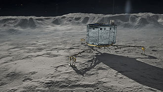 Philae (spacecraft) - Depiction of Philae on Churyumov-Gerasimenko
