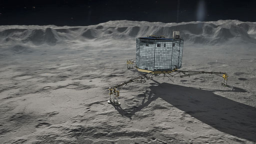 Rosetta's Philae on Comet 67P Churyumov-Gerasimenko