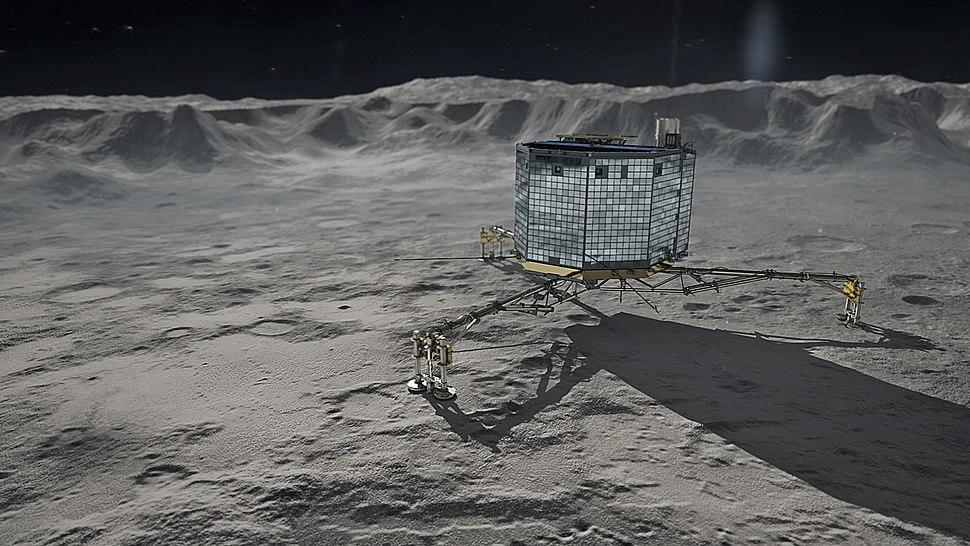 Rosetta's Philae on Comet 67P Churyumov-Gerasimenko