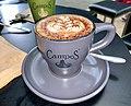 Rosetta latte art; Campos cappuccino in Brisbane,Australia.jpg