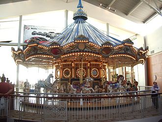 Westfield Galleria at Roseville - Carousel located inside the Galleria.