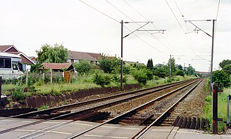 Rossington railway station - Site of the former station in 1992
