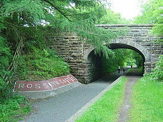 Penicuik–Dalkeith Walkway Route in Midlothian in the east of Scotland