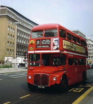 London Buses route 11 - AEC Routemaster in June 1993