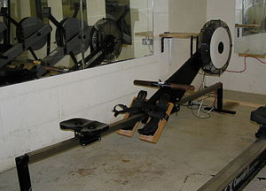 English: Photo of a RowPerfect indoor rowing. ...