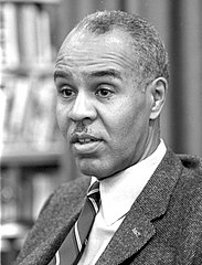 Roy Wilkins during an interview, April 5, 1963.jpg