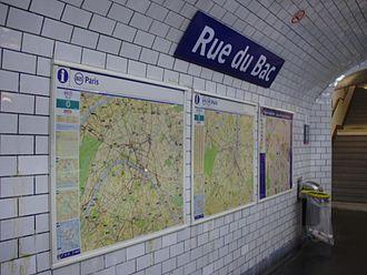 Rue du Bac (Paris Métro) - Image: Rue du Bac 04