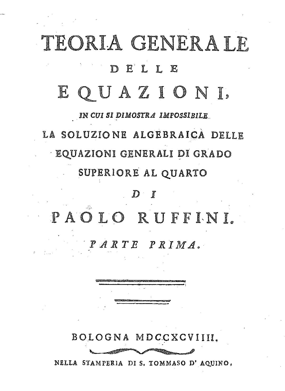 Teorema de Abel-Ruffini - Wikipedia, la enciclopedia libre