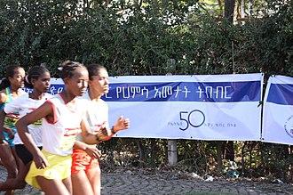 Great Ethiopian Run - Competitors at the 2011 Great Ethiopian Run.