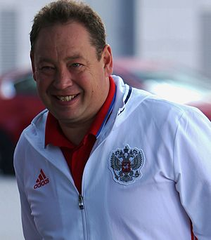 Leonid Slutsky (football coach) - Slutsky with the Russia national team in 2016