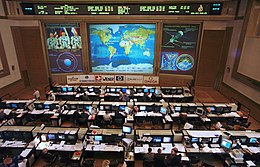 Il centro di controllo dell'International Space Station  in Russia e in America.
