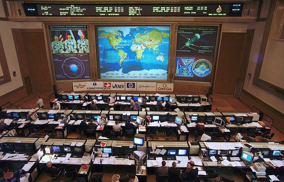 Russian ISS Flight Control Room