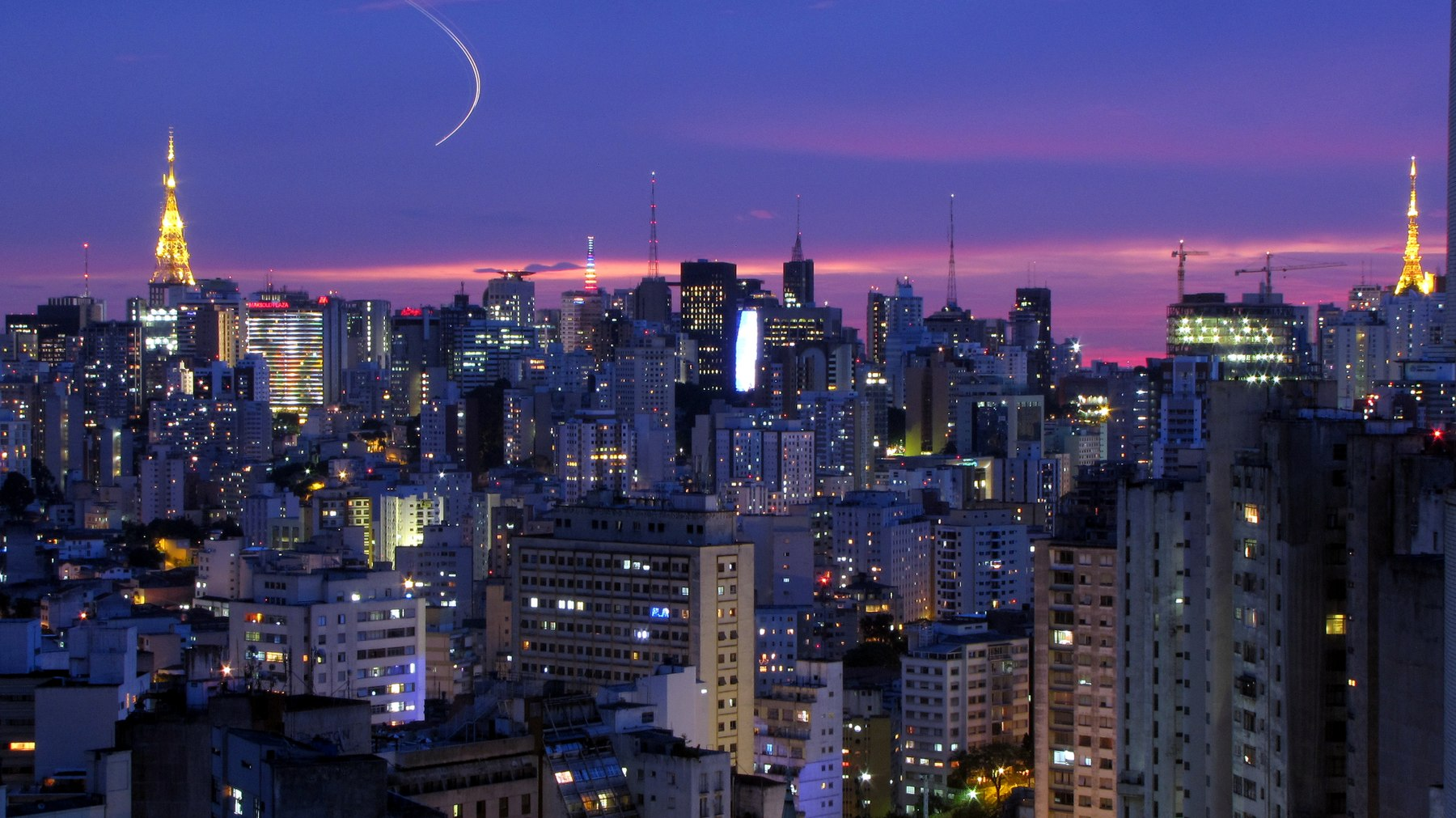 Sao Paulo, the largest city in Brazil, the largest city proper in the Southern Hemisphere, in the Americas, and the world's ninth-largest urban area by population. Sao Paulo city (Bela Vista).jpg