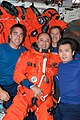 S127E012599 - STS-127 - STS-127 Crewmembers pose for photo in the MDDK of Space Shuttle Endeavour - DPLA - 80256f6636e78a8547118609ae061046.jpg