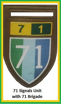 SADF 7 Division 71 Brigade Signals Unit Flash