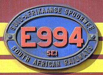 South African Class 5E1, Series 5 - Image: SAR Class 5E1 Series 5 E994 ID