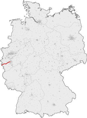 Cologne–Aachen high-speed railway - Course of the Cologne-Aachen upgraded line