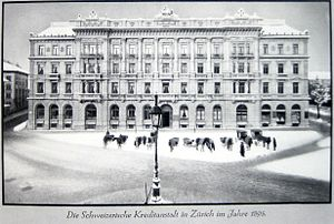 Credit Suisse - Swiss Credit Institution's headquarters – 1895