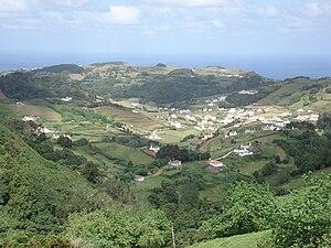Santa Bárbara (Vila do Porto) - The main village of Santa Bárbara located in the valley of the same name, in the interior of the island of Santa Maria