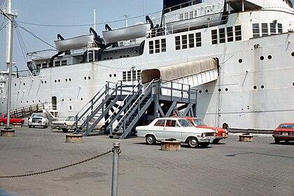 SS Stevens gangplank from pier 01.jpg